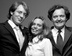 Pierre-Emmanuel Taittinger (right), with son, Clovis, and daughter, Vitalie